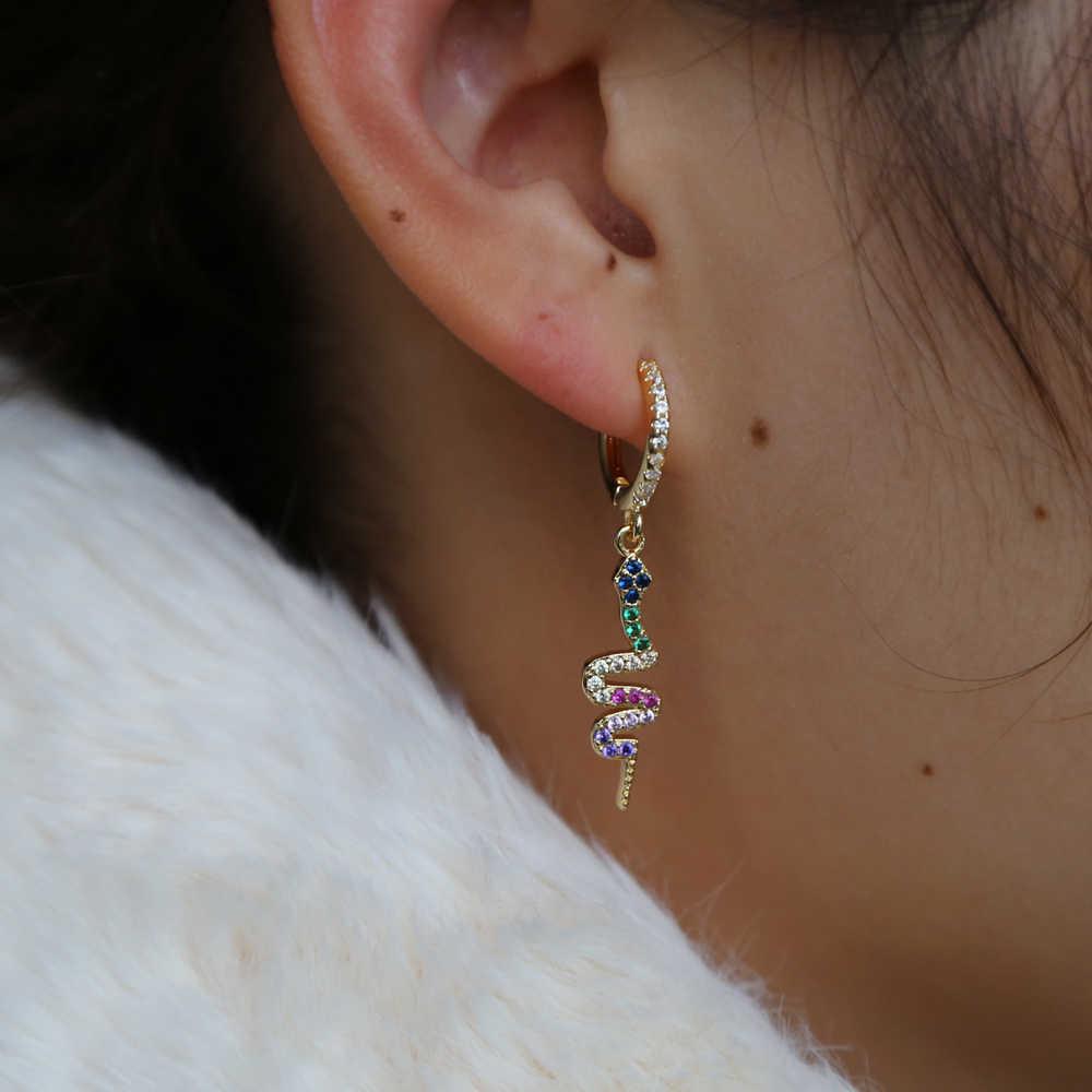 Long Twist Earrings Gold Chain Earrings Gold Dangle earrings Long Gold Earrings Gold Snake Earrings Long Evening Earrings