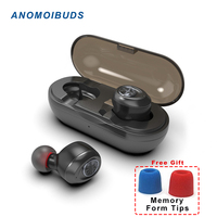 Anomoibuds Capsule TWS Wireless Earbuds V5.0 Bluetooth Earphone Headset Deep Bass Stereo Sound Sport Earphone For Samsung Iphone