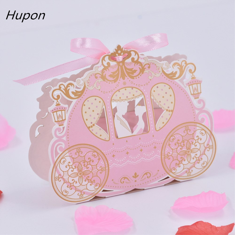 100Pcs Wedding Chocolate Candy Box Pumpkin Carriage Wedding Gifts ...
