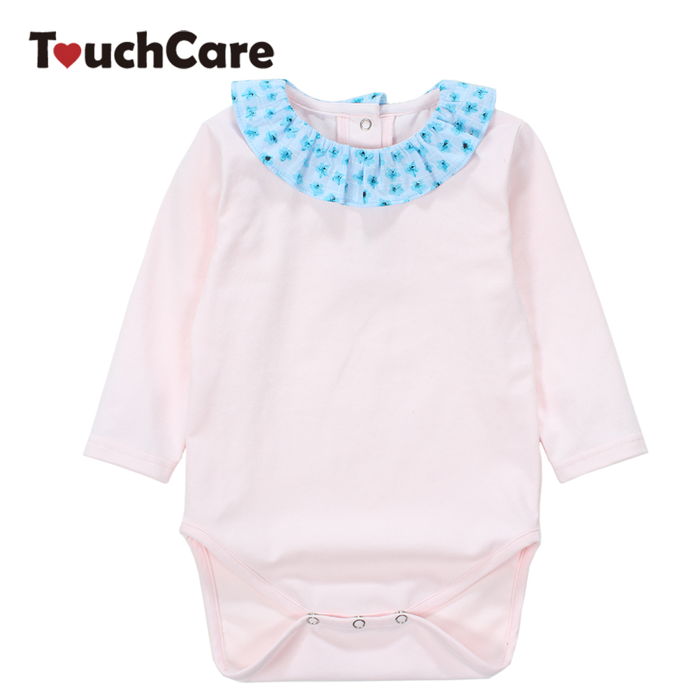 Baby Girl Rompers Summer Solid Long Sleeve Newborn Jumpsuit Soft Cotton Flowers Ruffle Baby Clothes Infant Romper Costume summer newborn baby rompers ruffle baby girl clothes princess baby girls romper with headband costume overalls baby clothes