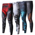 ZRCE New High Quality  Men Skinny Pants 3D Pattern Superman Iron Man Flash Bodybuilding Jogger  Fitness Skinny Leggings Trousers