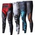 ZRCE Novo Padrão Dos Homens de Alta Qualidade Calças Justas 3D Superman Homem De Ferro Flash de Musculação Aptidão Skinny Leggings Calças Basculador