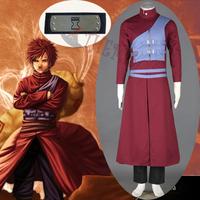 Athemis Anime Outfit Naruto Gaara Cosplay Costumes male L size outfit