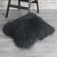 Black Mongolian Fur Pillow Cover Decorative Pillows Tibetan Fur Cushion Cover Almofadas Cojines Chair Sofa New Bedroom