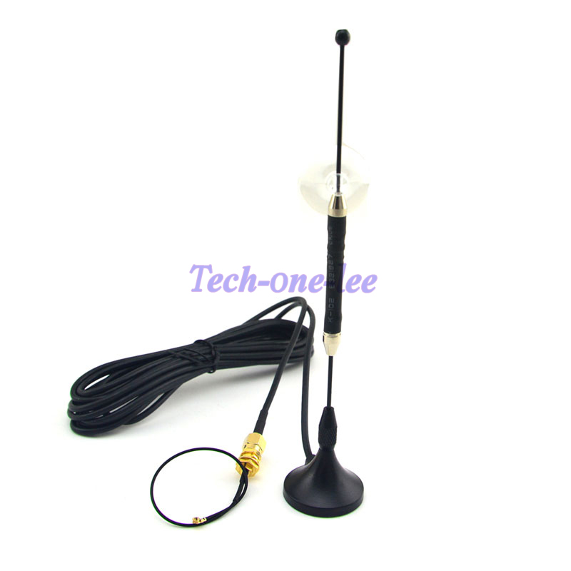5 Piece/lot 4G Antenna 10dbi LTE Aerial 698-960/1700-2700Mhz SMA Magnetic For 4G Lte + SMA Female To Ufl./IPX 1.13 Cable 15cm