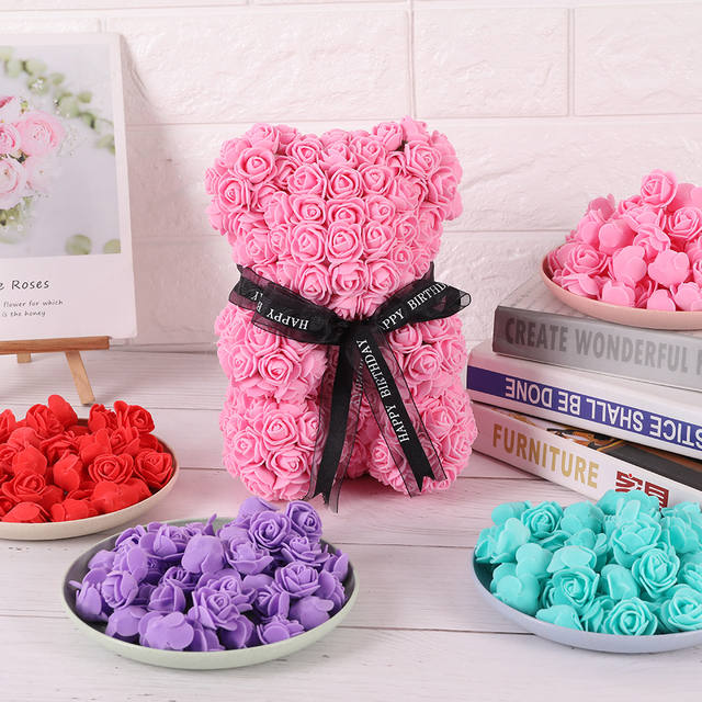 200pcs Cheap PE Mini Artificial Flowers for Home Wedding Decoration Accessories Fake Foma Bears Scrapbook Diy Wreath Needlework
