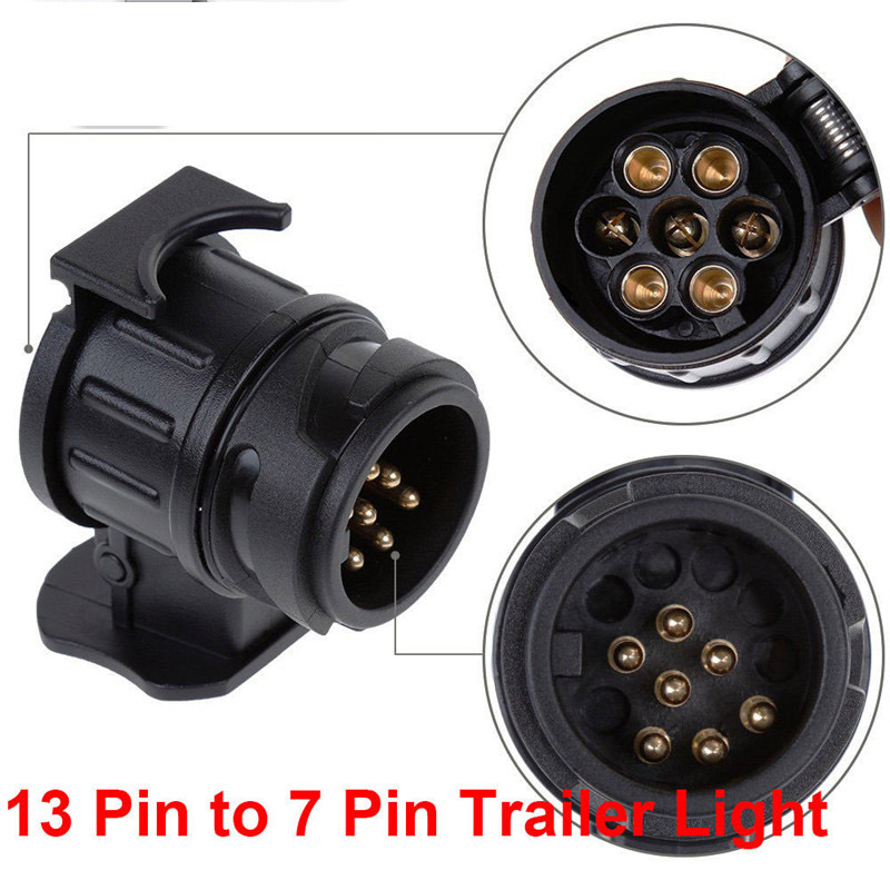 Hiyork Do Promotion Adapter Trailer Electric 13 To 7 Pin Plug Converter Waterproof Socket For Caravan Towbar Accessories Camping