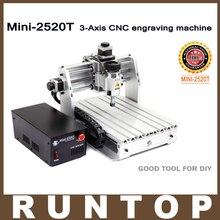 200 W 3 Axes Mini CNC Machine De Gravure 2520 T