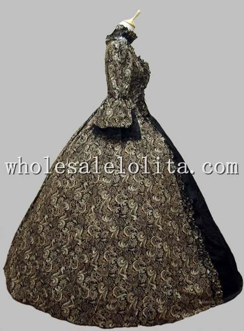 Grúz viktoriánus gótikus periódusú ruha öltöztetős - Jelmezek - Fénykép 2