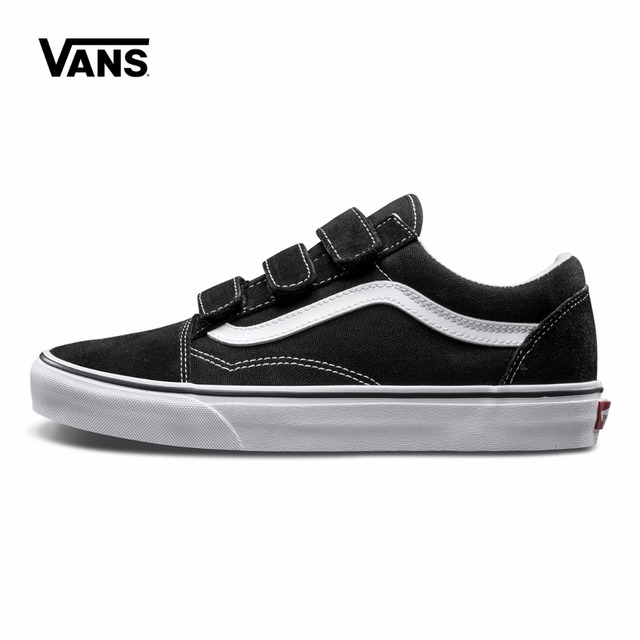988909ec1e4b Vans Original Old Skool V Classic Non-slip shoes Unisex Leisure Black  Canvas Shoes Women s Sneakers Men s Fencing Shoes