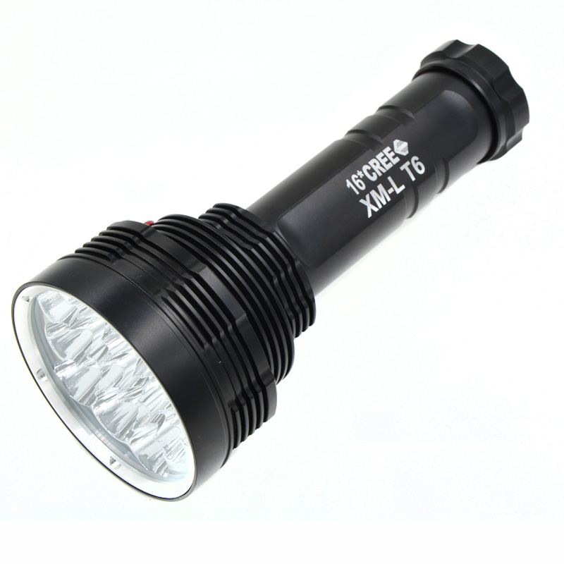 16 LED Flashlight S88 50W 16 Cree Xm-L T6 Led Flashlight Super Bright Torch Light Camping Lamp Hunting Lighting 16000LM super 3000lm zoomable cree xm l t6 led 18650 flashlight torch super bright light 170118