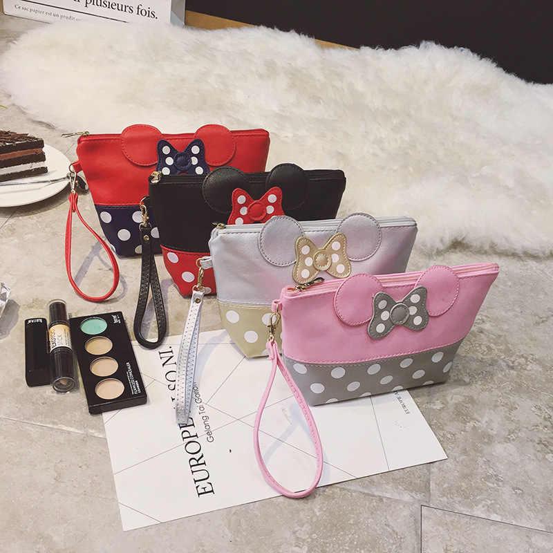 Colourful Mickey di Stile Borse Da Toilette Belle Donne Sacchetto di Trucco Portatile di Viaggio Sacchetto Cosmetico Vanity Necessità di Trucco Dell'organizzatore