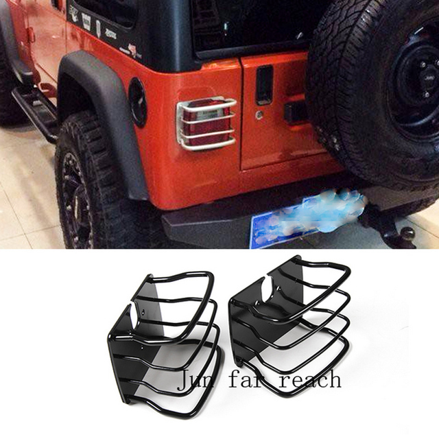 Delightful Metal Car Exterior Accessories Tail Light Cover For TJ Jeep Wrangler Second  Generation1997 2006 Car