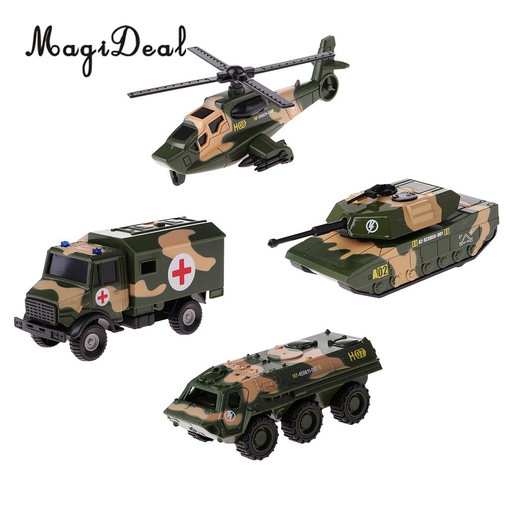 MagiDeal 1:64 Diecast Army Vehicle Model Free Wheel Car Kids Toy Gift