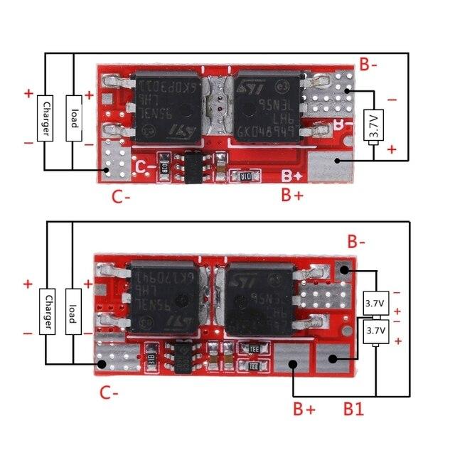 وحدة شحن BMS لوحة ليثيوم أيون 1S 2S PCM PCB دائرة حماية البطارية 18650