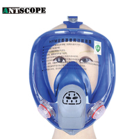 Gas Valved Dust Masks Respirator Chemical Mask Spray Breathe Mask Silicone Spray Paint Full Facepiece Respirator Mask Welding