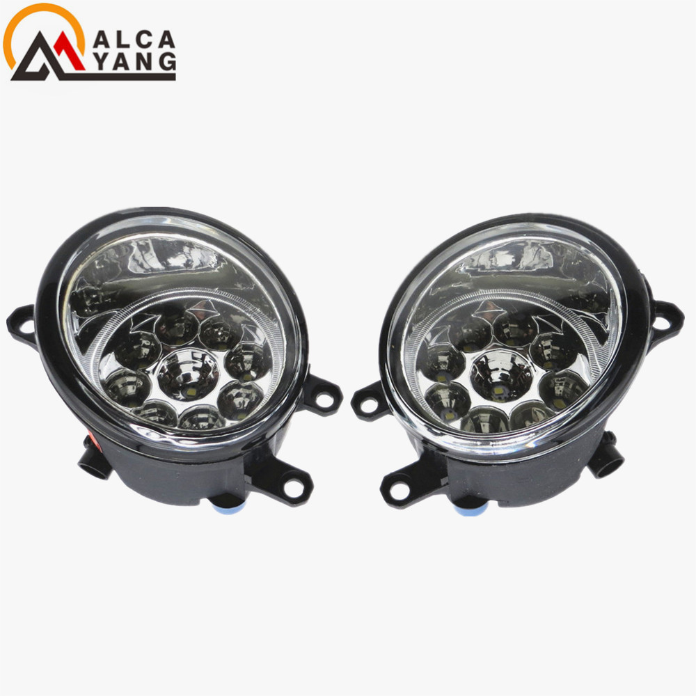 Malcayang Angel Eyes Car styling Halogen Fog Lamps 12V 1 SET For TOYOTA Vitz/Yaris 5-Door 2005-2009 81210-06052 1 set left right car styling front halogen fog lamps fog lights 81210 06052 for toyota rav4 2006 2007 2008 2009 2010 2011 12