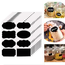 Waterproof Chalkboard Kitchen Spice Label Stickers Home Jam Jar Bottle Tags Blackboard Labels Marker Pen
