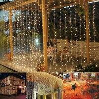 10*5 м 1600 светодиодные лампы Шторы гирлянды сосулька огни строки gerlyanda открытый Рождественский СВЕТОДИОДНЫЕ фонари елочные украшения
