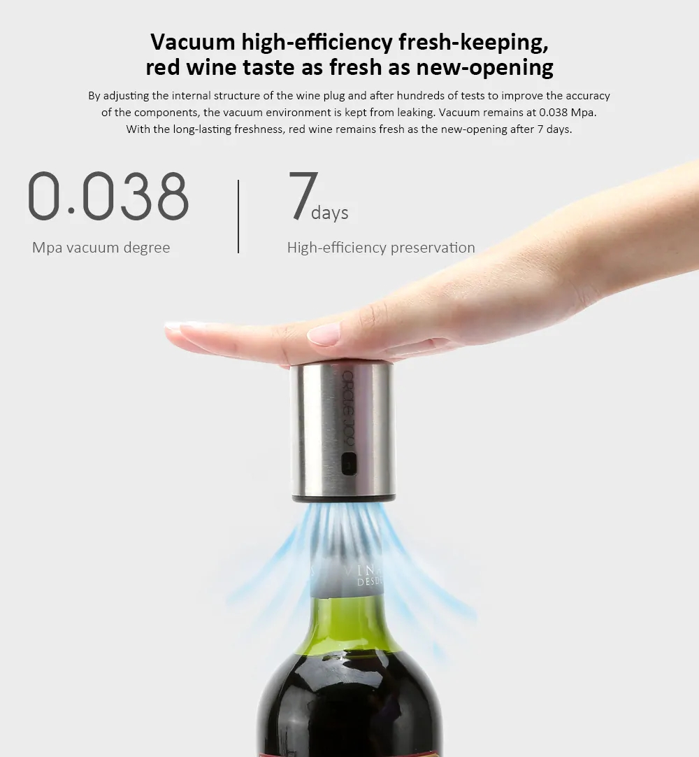 Xiaomi Circle Joy Wine Bottle Stopper Wine Accessories (4)