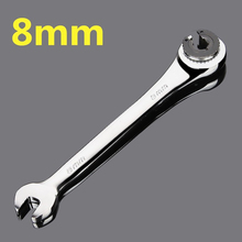 цена на 8mm Fixed dual-use fast plum opening ratchet wrench tubing ratchet wrench auto repair tools wrenches with a ratchet