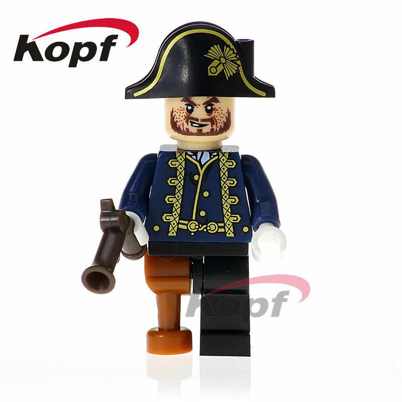 Одна распродажа Joshamee Gibbs Hector Barbossa Officer Santos Пираты Карибского моря строительные блоки игрушка-подарок для детей XH 618
