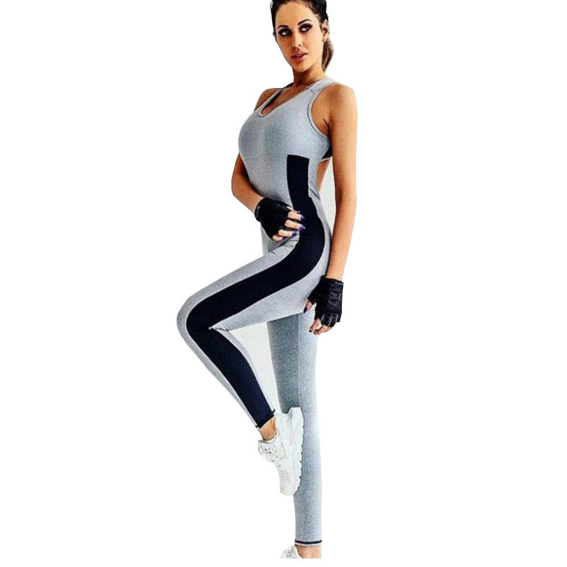 Embroidery Floral Fitness Jumpsuit Gym Suit Women Active Wear Roupa Fitness Mulher Sport Clothing Sportwear Leggings Set Yoga Sets Yoga