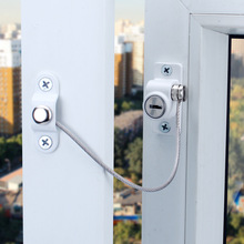 Children Window Lock Restrictor Cabinet Locks & Straps Baby Safety Kids Protection Stopper Child