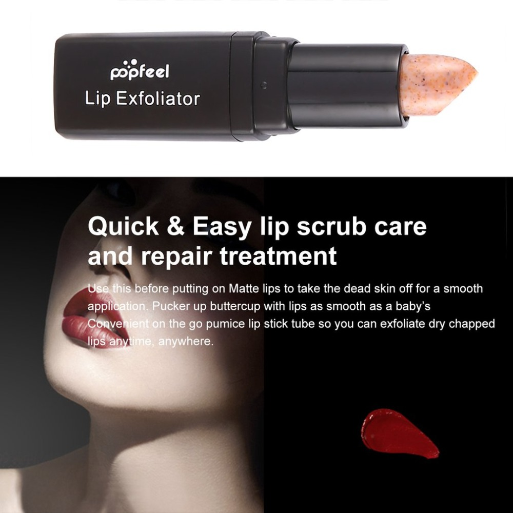 popfeel Exfoliating Lips Scrub Stick Fade Lipstick Cleaning Dead Skin Lip Care Organic Lips Repaired Cream Lip DFDF