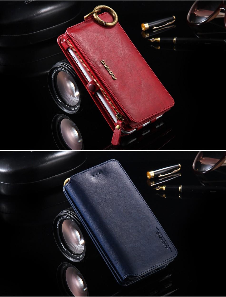 Floveme oryginalny retro skóra telefon case for iphone 6s 6 4.7 dla iphone6s iphone 6s przypadki metalowy pierścień coque pokrowce na iphone 7 14