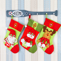 2016 New Year 1 Piece Big Christmas Stockings Socks Santa Claus Candy Gift Bag Xmas Tree
