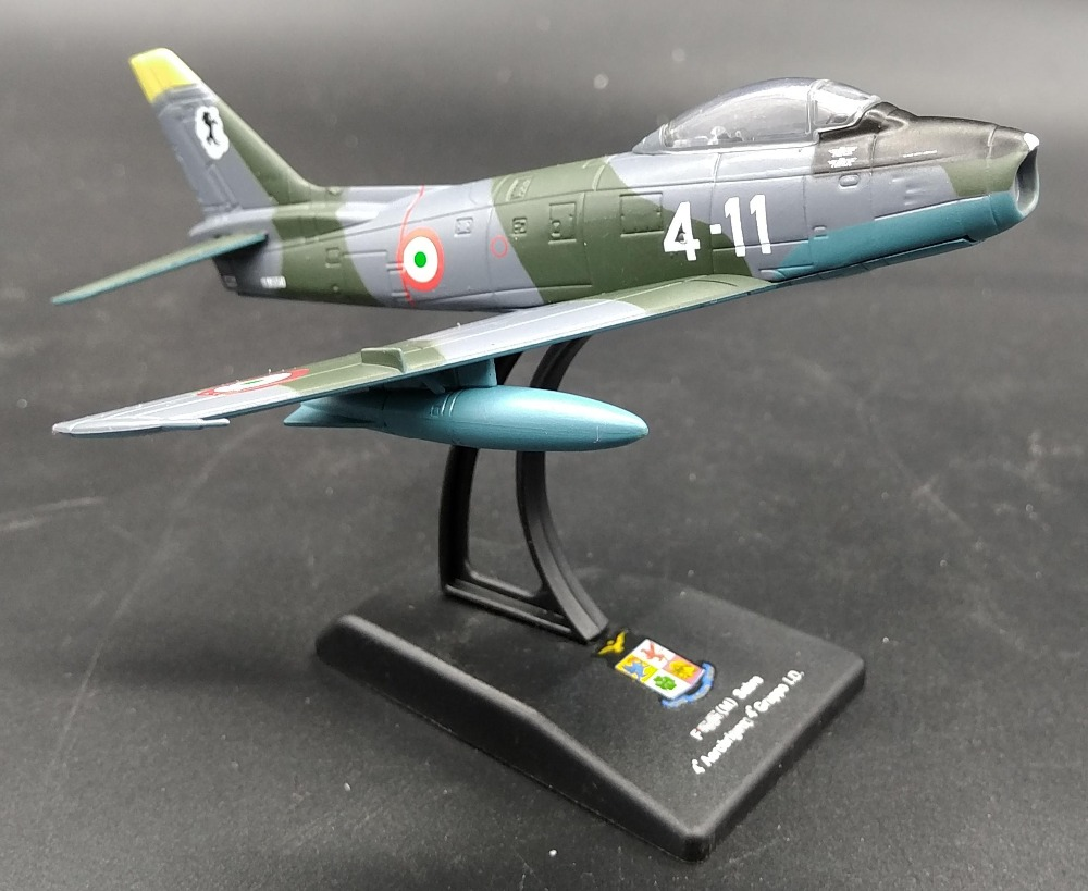 rare Value LEO 1: 100 Italian Air Force F-86E attack aircraft Alloy aircraft model Collection model Holiday gifts цена