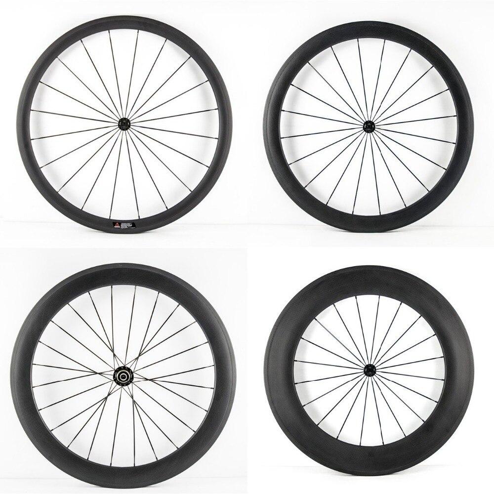 2015 ultra r 00904 Smileteam 700C Ultra Light R13 Hub Carbon Wheels 38mm 50mm 60mm 88mm Carbon Clincher Tubular Wheelset Road Bike Bicycle Wheels