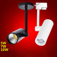 15pcs Lot Wholesale 5W 7W 10W 5W COB LED Track Light For Store Shopping Mall Lighting