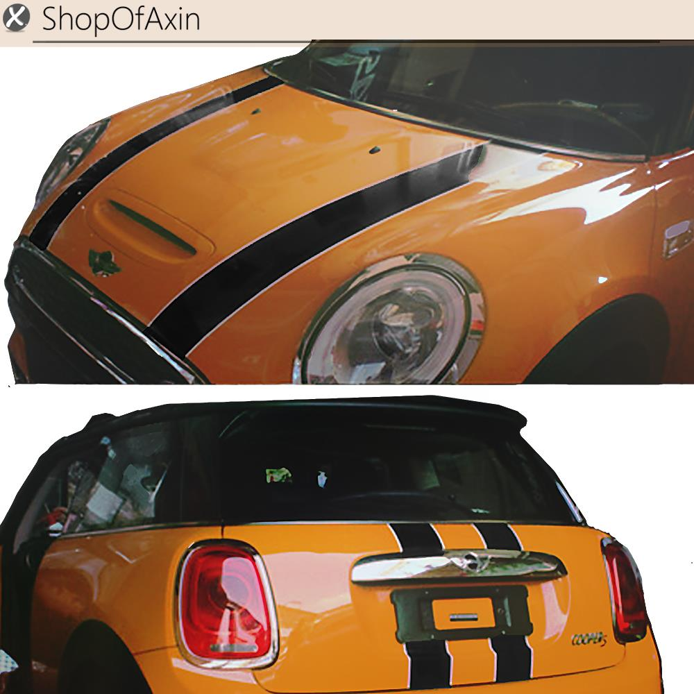 Car Hood and trunk Luggage Door Decoration Sticker V Style For Mini Cooper Hatchback countryman R50 R53 R55 R56 R60 R61 F54 F55 sun protection cool hat car logo for mini cooper s r53 r56 r60 f55 f56 r55 f60 clubman countryman roadster paceman car styling