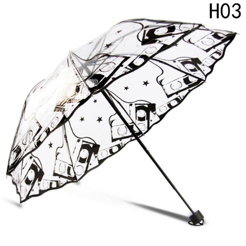 Pvc Transparent Umbrella Printing Series Unique Design Umbrella