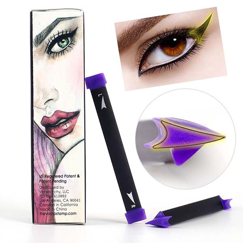 Eyeliner Stamp Vamp Stamp Gel Set Tool Beauty Makeup Brush New Wing Style Kitten Large Size Makeup Cat Eye Wing Stamps Eyeliner