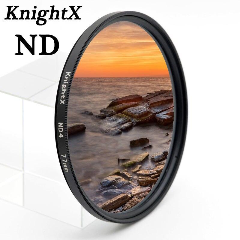 KnightX ND2 ND4 ND8 ND 52mm 58mm 67mm lentille Filtre Densité Neutre pour Canon nikon sony 70d D7100 D7200 D5200 D5300 D3300 D3200