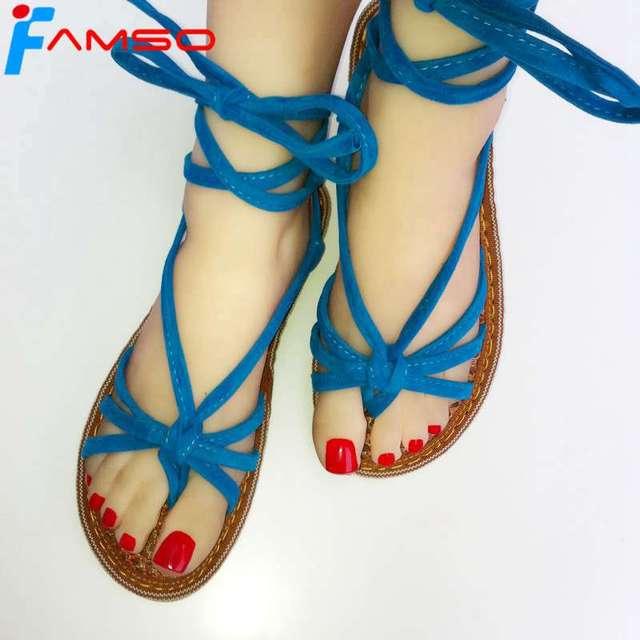 FAMSO 2018 Free Shipping Casual Fashion Leopard Shoes Lace-up Women s Beach  shoes Flip Flop Ladies Slides Flats Sandals 76af4b82f1c6