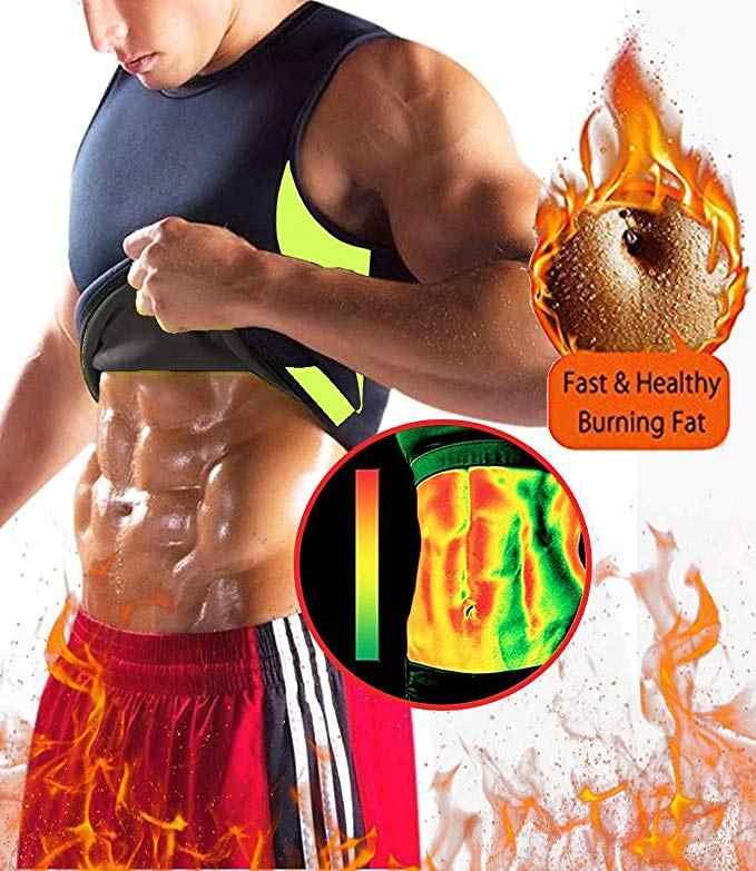 汗のベスト減量ネオプレンサウナスーツボディシェイパータンクトップホットトップおなか脂肪痩身シェイプウェア黒なしジップ