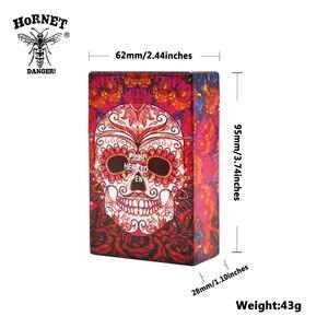 Image 2 - Hornet butterfly & crânio cigarro cigarro plástico caso bolso tamanho 95mm * 60mm cigarro caixa capa fumar cigarro titular