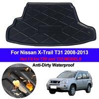 Carro traseiro boot carga forro bandeja tronco bagagem tapetes almofada para nissan x-trial xtrail t31 2008 2009 2010 2011 2012 2013