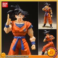 Anime Dragon Ball Z Original BANDAI Tamashii Nations S.H. Figuarts / SHF Action Figure Son Goku A Saiyan Raised on Earth