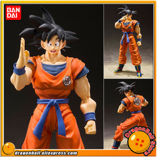 "Anime ""Dragon Ball Z"" Original BANDAI Tamashii Nations S.H. Figuarts/SHF Goku Action Figure-Filho-UM Saiyajin Levantadas na Terra-(China)"