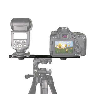 """Image 5 - Đa Năng Đèn Flash Kép Giá Đỡ Với 2 1/4 """"Adapter Ốc Vít Cho Phòng Thu Chân Giá Đỡ Máy Ảnh SLR Kỹ Thuật Số"""