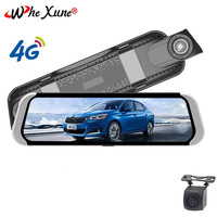 WHEXUNE 10 inch 4G Android 5.1 Car DVR smart rearview GPS navigation mirror Full HD 1080P Car camera ADAS WiFi monitor dash cam
