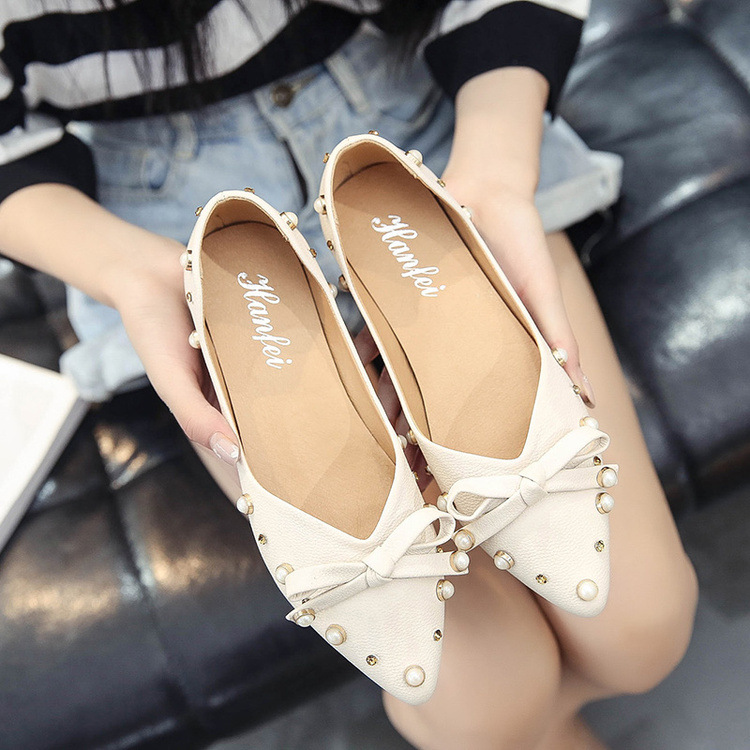 Ding Perle Mou Pointu Pied 2018 Femmes Beige Nouvelle Profonde Liu kaki Chaussures Bouche Peu blanc Fond Strass Ensemble Scoop q6RqIg5wn