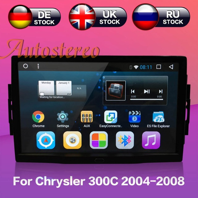 Autostereo Android 7 Auto GPS navigation Für Chrysler 300C Jeep Dodge 2004-2008 Keine DVD-player multimedia band recorder kopf einheit