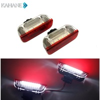 2PCS 18SMD LED Courtesy Lamp LEDs Side Door Light DC 12V White For VW Golf 5