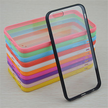 Hot Sale Candy colors Bumper+Acrylic back cover phone case for iphone 5 5S 5G/4 4S 4G case Acrylic Material phone Cases & Bags